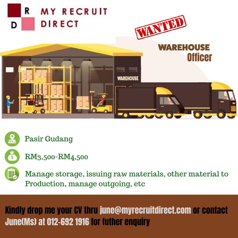 WAREHOUSE EXECUTIVE/OFFICER (cc:SBS)