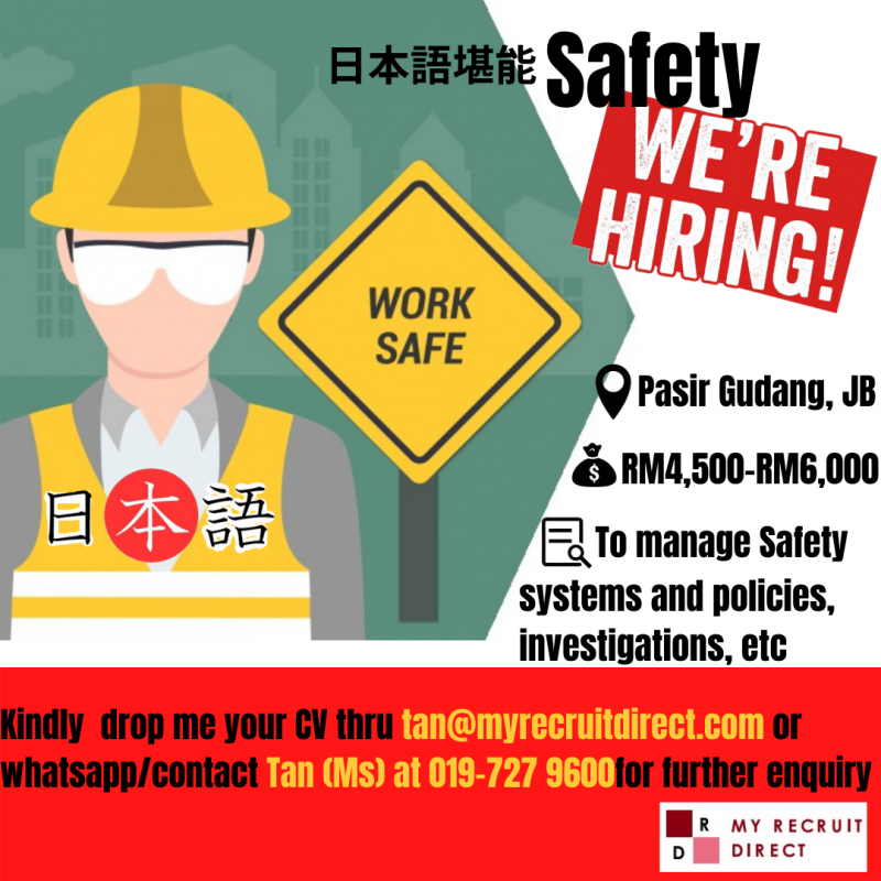 Japanese Speaking Safety Asst Manager