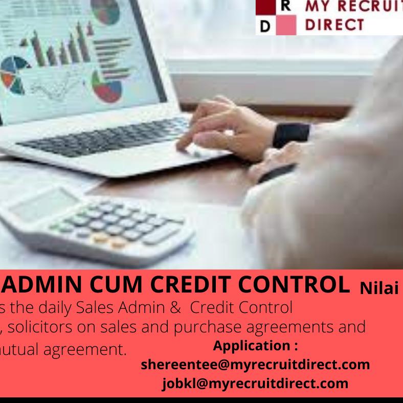 Sales Admin Cum Credit Control Manager