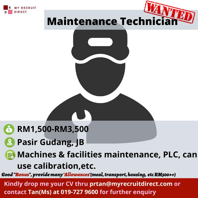 Maintenance Technician (cc:RIN)