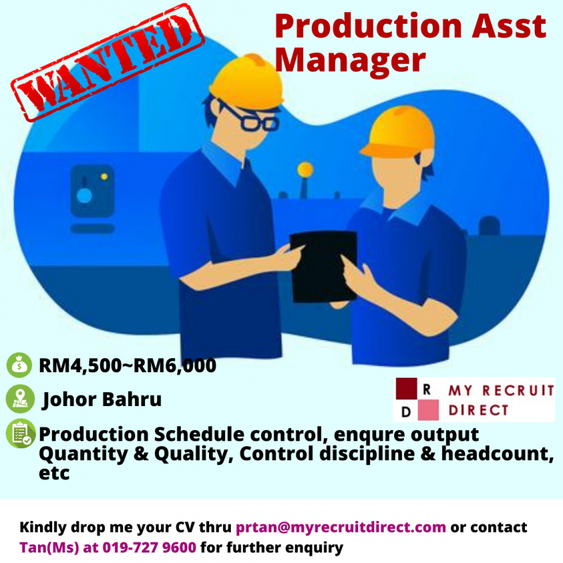Production Asst Manager (cc:RIN)