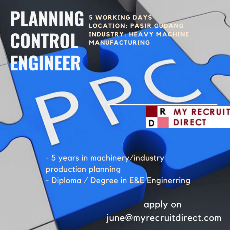 PRODUCTION PLANNING & CONTROL ENGINEER (cc: SBS)