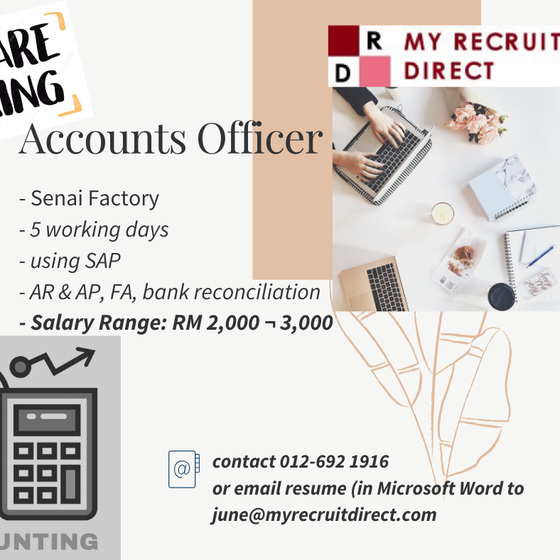 ACCOUNTS OFFICER (CC: SBS)